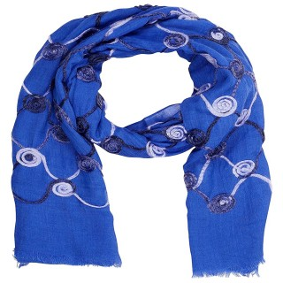 Cotton Chain Work Stole - Royal Blue