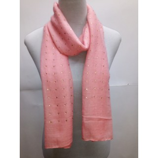 Cotton Diamond Stole- Rose Pink