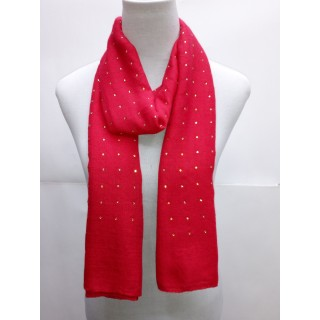 Cotton Diamond Stole- Red