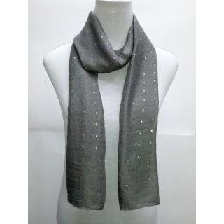 Cotton Diamond Stole- Grey