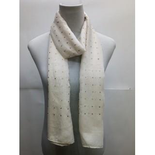 Cotton Diamond Stole- White