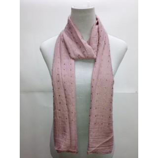 Cotton Diamond Stole- Pink