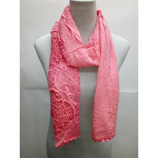 Cotton Net Stole- Rose Pink