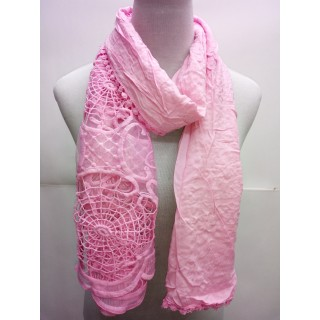 Cotton Net Stole- Taffy Pink