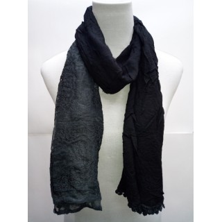 Cotton Net Stole- Black