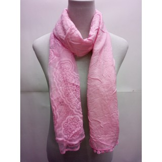 Cotton Net Stole- Blush Pink