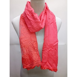 Cotton Net Stole- Strawberry Pink