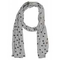 Printed Hijab in grey color