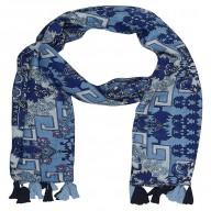 Big Cotton Hijab- Blue Color