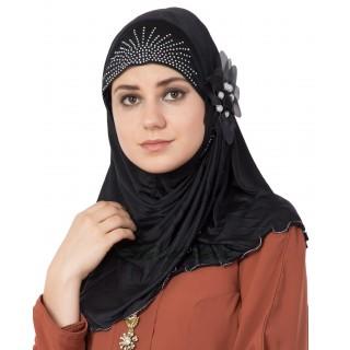 Jersey Instant Hijab - Black