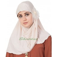 Jersey Instant Hijab - White