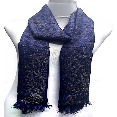 Cotton Sparkling Women's Stole -  Blue
