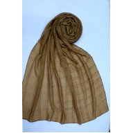 Designer sparkling box style cotton stole - Brown