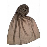 Designer Sparkling cotton women's Stole - Brown