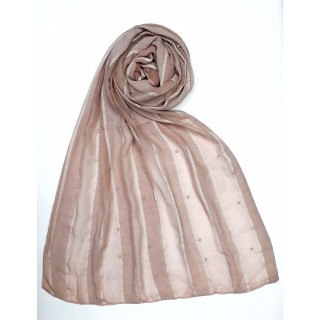 Striped Cotton Women's Stole - Pink