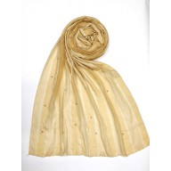 Striped Cotton Women's Stole - Yellow