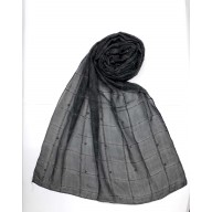 Designer Box Style Women's Stole - Charcoal Black