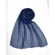 Designer Box Style Women's Stole - Royal Blue