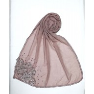Stole for Women - Designer Diamond Studded Stole |Pink