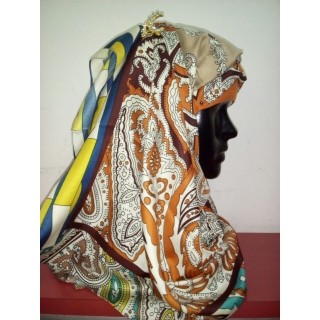 Multi Color Multi Printed Hijab -multi printed