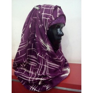Printed Hijab - Byzantium colored