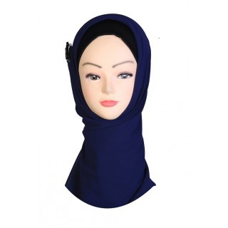 Blue Hijab - Crepe Fabric