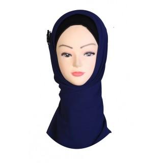 Blue Hijab - Crepe Fabric
