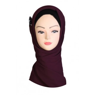 Cocoa Brown Hijab - Georgette Fabric
