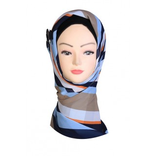 Multi Colored Design Hijab - Crepe Fabric