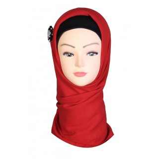 Persian Red Hijab - Rayon Fabric