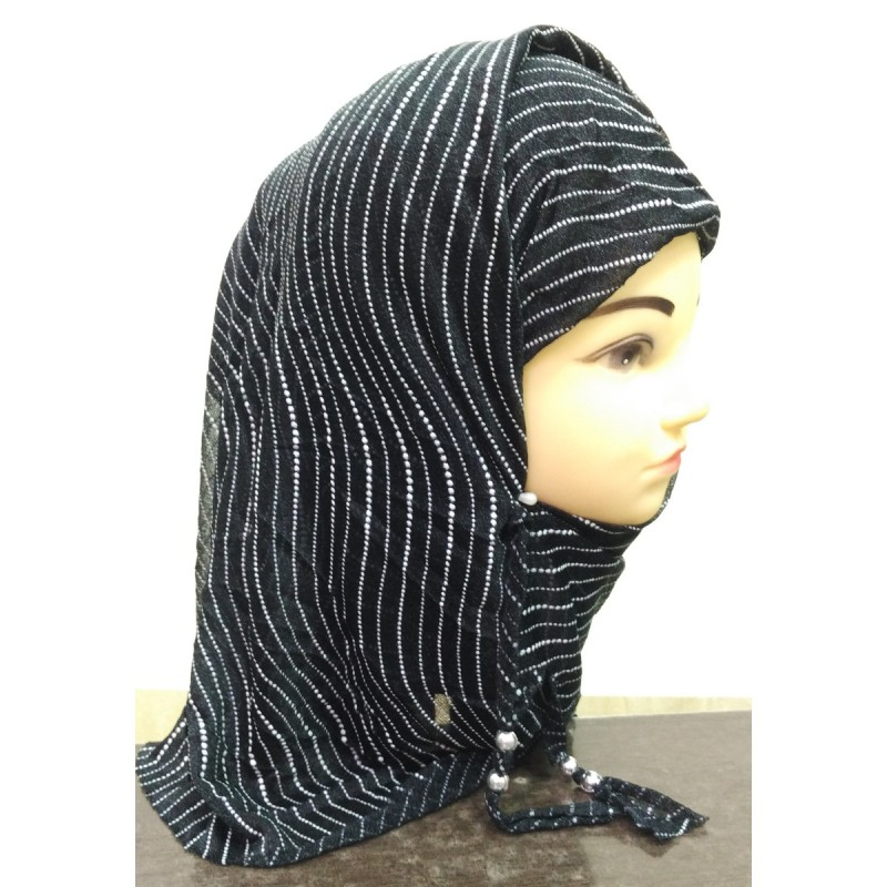 Hijab Scarf Online In India Black Colored Stole With