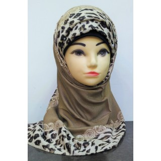 Premium Collection - Beige Colored With Animal Printed Border