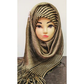 Golden Colored Party wear Scarf