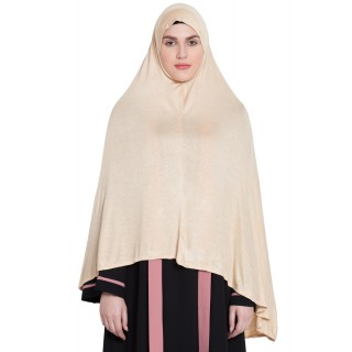 Prayer Hijab | Long Hijab | Khimer- Beige