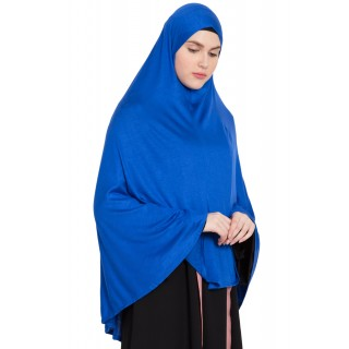 Prayer Hijab | Long Hijab | Khimer- Royal Blue
