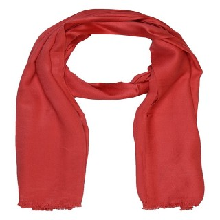 Satin Plain Stole-Red Color
