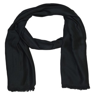 Satin Plain Stole-Black Color
