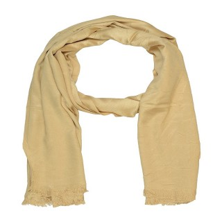 Satin Plain Stole-Brown Color
