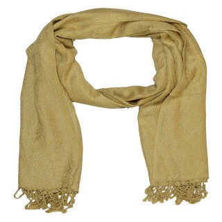 Brown Color-Shimmer Scarf