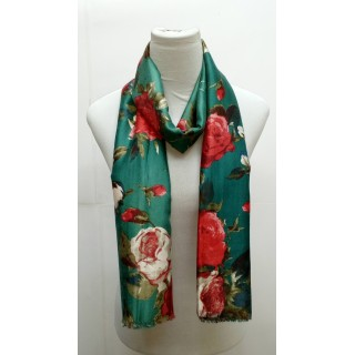 Premium Silk Viscose Hijab- Green