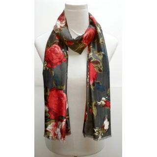 Premium Silk Viscose Hijab- Grey