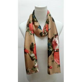 Premium Silk Viscose Hijab- Brown