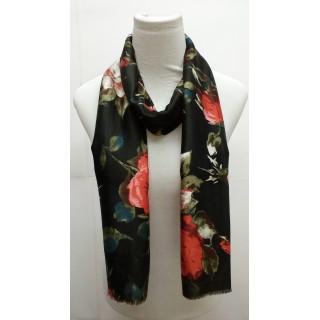 Premium Silk Viscose Hijab-Jet Black