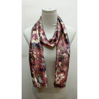 Premium Silk Viscose scarf-  Light pink