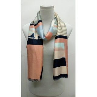 Rich Printed Stole-Whitish Grey