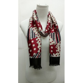 Whitish Red-Rich Printed Stole