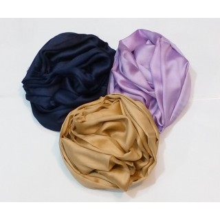 Combo Pack- 3 piece Plain Satin Scarf