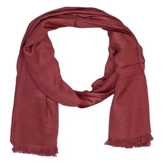 SatinSaturn Plain Stole-Maroon Color