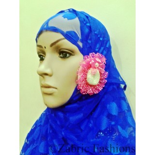 Hijab- Purple with cap