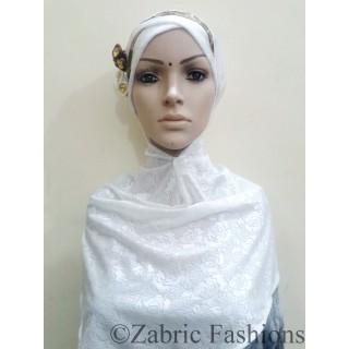 Hijab- white bridal designer